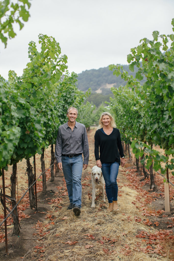 Joel and Sarah, Sarah Gott, Joel Gott Wines, Cellar, Wine Cellars, Joel Gott, Napa Valley, Wine, Wine Bottle, California Wines, Joel Gott Wines, joel gott winery, joel gott wine, Joel Gott, elegant wines, complex wines, California